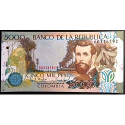 5000 PESOS**COLOMBIE**JOSE ASUNCION SILVA